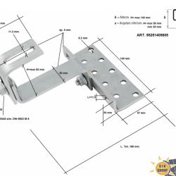 Gancio solar regolabile per tetti con tegole